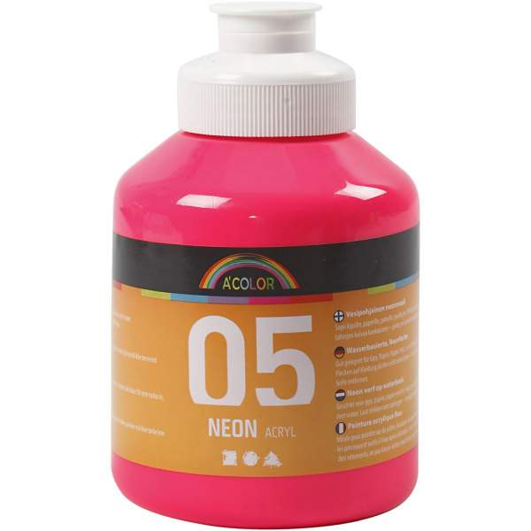 A-Color Acrylfarbe, 500 ml, Neonpink